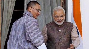 प्रधानमंत्री मोदी के साथ भूटान के पीएम