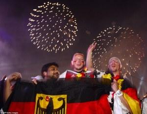 जश्न मे डूबा जर्मनी