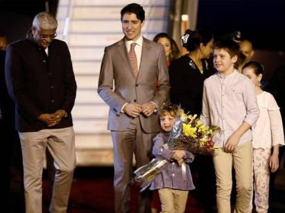 trudeau-welcome-india